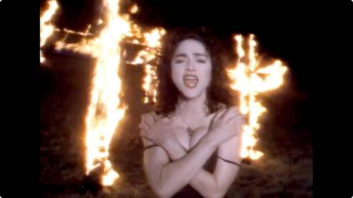 Image result for like a prayer madonna music video